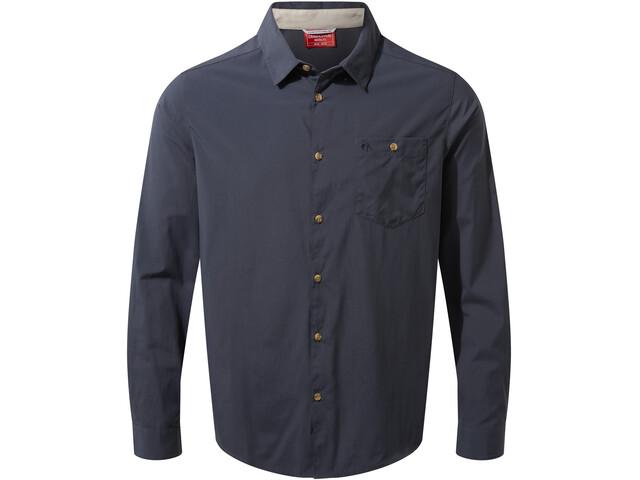 Craghoppers NosiLife Nuoro Camisa Manga Larga Hombre, azul